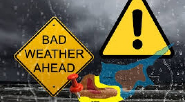 Προσοχή! Κίτρινη προειδοποίηση για ισχυρές καταιγίδες