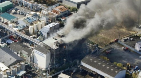 Ιαπωνία: Έκρηξη σε χημικό εργοστάσιο - 14 τραυματίες (Vid)