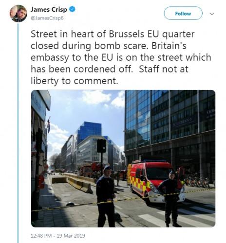 ΕΚΤΑΚΤΟ: Συναγερμός στις Βρυξέλλες μετά από απειλή για βόμβα